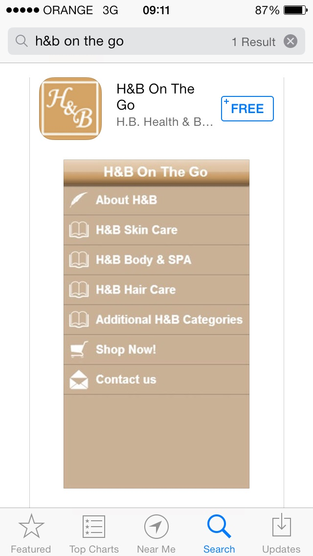 H&B On The Go is Now Available on IOS Devices!