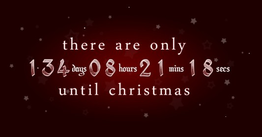 christmas countdown via xmasclock.com/