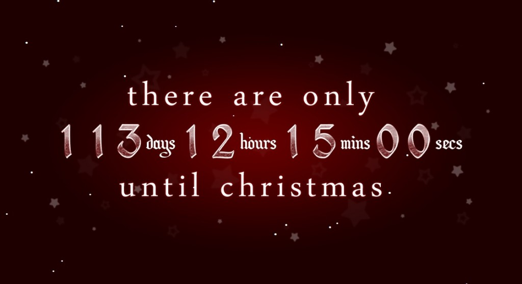 christmas countdown 16 weeks to go